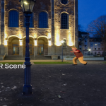 Dancing Character in 360 Image Background 360 video experience 0